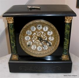 Antique Sessions Mantle Clock, working with key, loud chime.