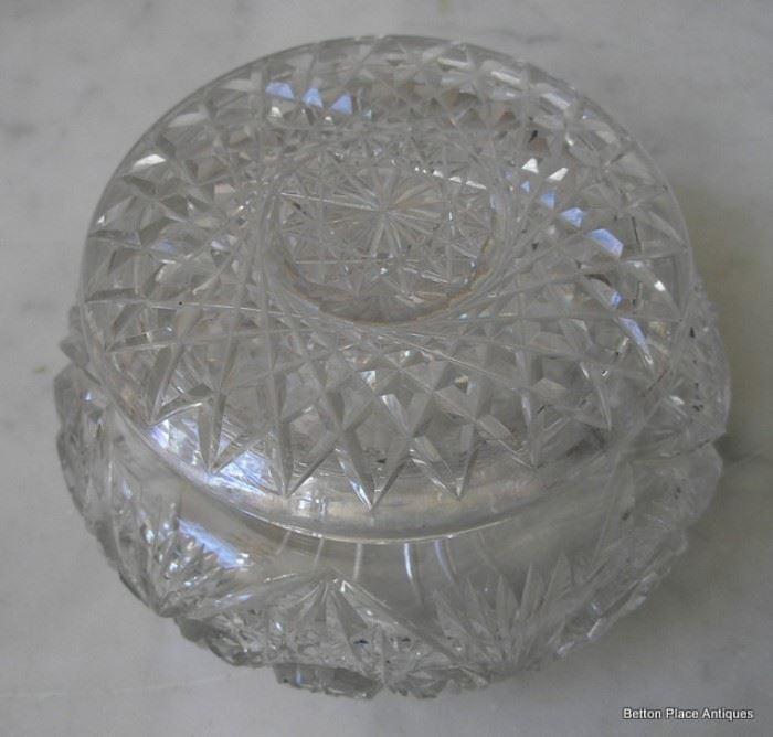 American Brilliant Glass Trinket Box