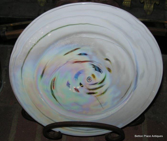 Small Seguso Murano Plate