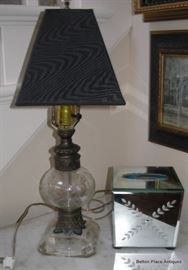 Lamp and Mirrored Tissue Holder