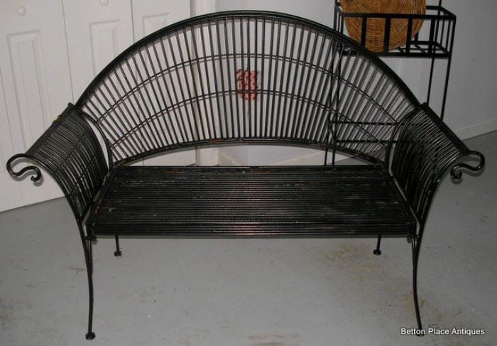 Beautiful Metal Outdoor Bench