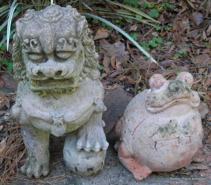 Frog and Foo dog