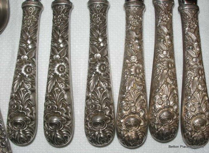 Closeup of Kirk Sterling Repousse