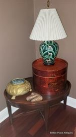 Small Oval Endtable, Lamps and more