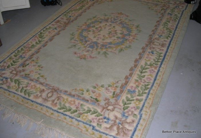 Beautiful Wool Pastel color Area Rug, 6 x 5