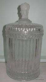 Beautiful Glass Lidded Jar