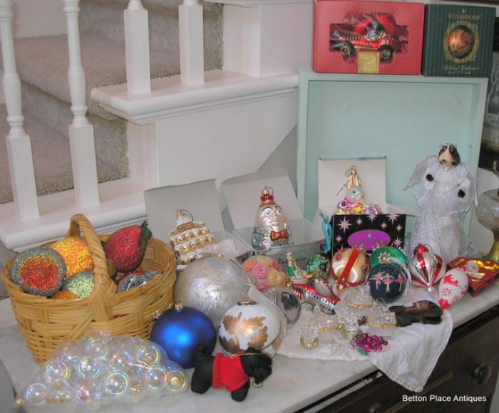 Lots of Christmas Glass Ornaments