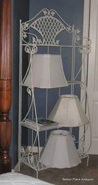 Metal Rack and Lampshades