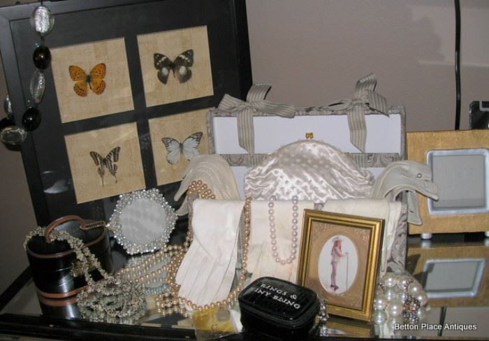Costume Jewelry, Gloves, Boxes and Butterflies