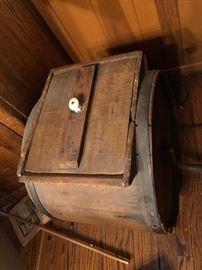Antique butter churn