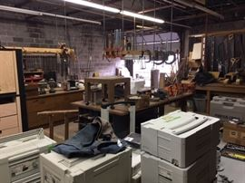 In the back of the shop.