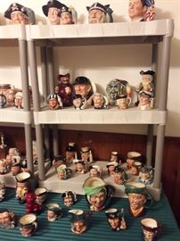 HUUUGE collection of Royal doulton Tobies--priced right!!