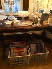 RECORDS, Milk Glass, Crystal, Cake Plates, Candlesticks