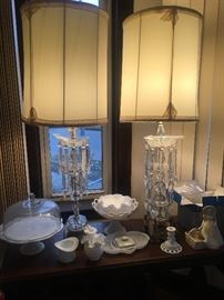 Lamps, Cake Plates, Bowls, Candlesticks