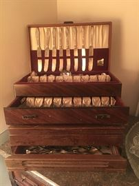 Cases of Sets of Vintage Flatware