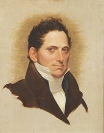 19th Century American School Portrait Of A Man