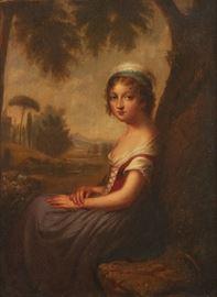 Cephas Giovanni Thompson Italian Girl Oil On Canvas