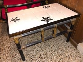 Oriental style end table