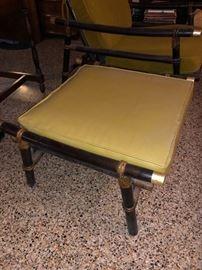 Bamboo framed stool