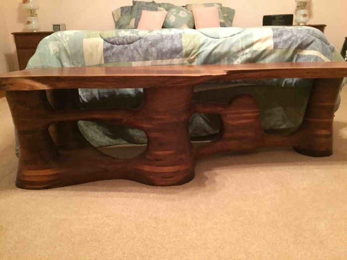 Handcrafted Solid Walnut Coffee Table