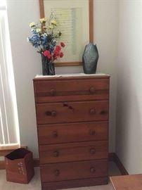 Two Antique Tallboy Dressers - Mid-Century