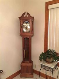 Antique Handcrafted Solid Walnut Grandmother's Clock - 1973
