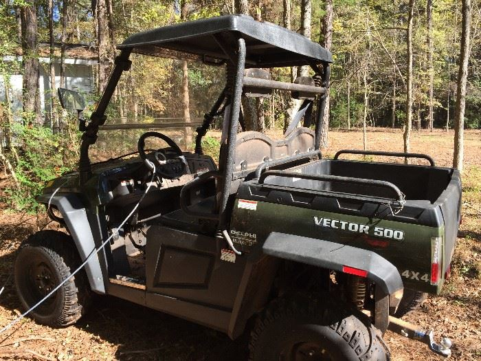 Nearly New Vector 500 UTC - Only 56 Miles - Purchased Spring 2018, includes Original Manuals