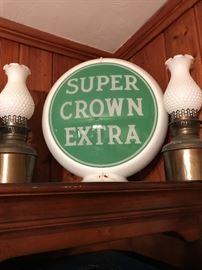 Crown gasoline Gas Pump Globe