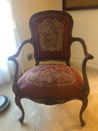 Antique French Provincial Needle Point Chair