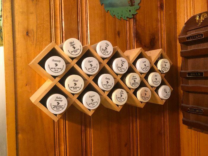 wall spice rack