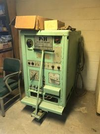 P+H AC-DC Arc Welder  model # Dar-300HFGWthat works!. This welder was typical of welders used at Norfork Naval Yard used to build battle ships.  AWESOME!!
