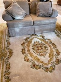 Couch and room size rug