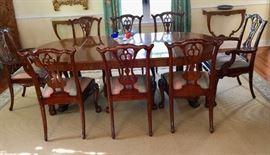 Baker Diningroom Table & Maitland-Smith Chairs