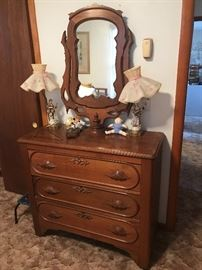 Gorgeous antique dresser with mirror