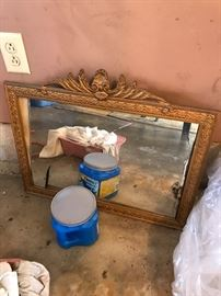 Beautiful antique mirror that needs a new mirror