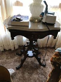 Eastlake marble top table.