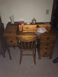 Vintage desk with chair