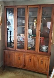 Broyhill  mid century 'Tribute' line china cabinet  -- dining room  $75 on Monday
