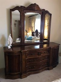 And matching dresser with mirror