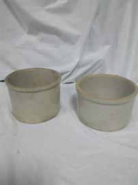Lot of 2 ceramic stoneware crocks https://ctbids.com/#!/description/share/84414
