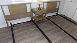 twin beds...SOLD night stand