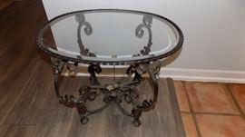 vintage tole table
