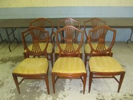 1950s Shield back chairs