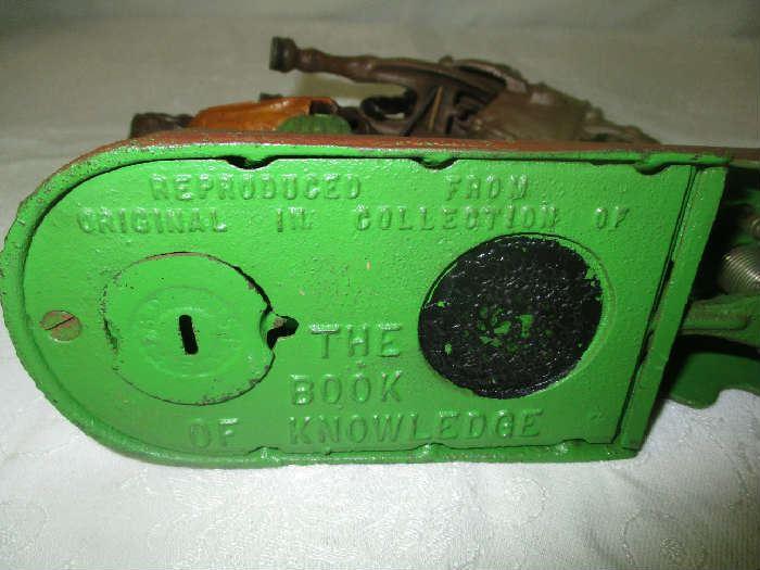 Bottom of mechanical Bank