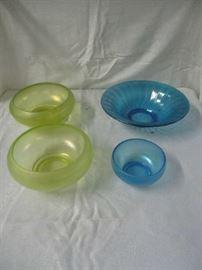 Vaseline and blue glass