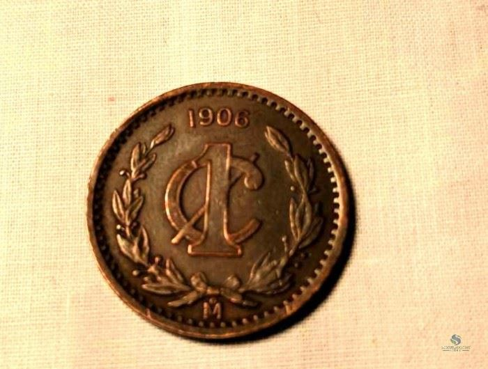 1906 Mexican Centavos - Lot of 3 / 1906 Mexican 1 Centavos Coins (3), raw