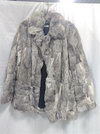 vintage rabbit fur coat, Gray, size medium                 https://ctbids.com/#!/description/share/86448