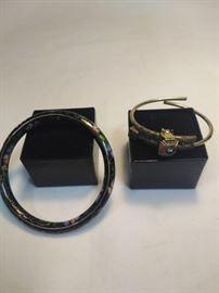 One cloissonne bracelet, one antique bracelet      https://ctbids.com/#!/description/share/86418