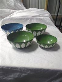 vintage ceramic covered metal bowls   https://ctbids.com/#!/description/share/86516