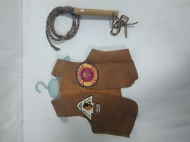 children's YMCA Y-indian guide vest and leather whiphttps://ctbids.com/#!/description/share/86524